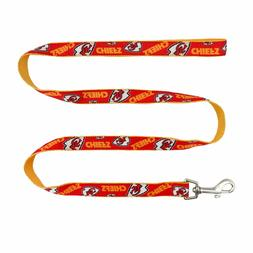"Littlearth NFL Kansas City Chiefs Team Pet Ribbon Leash 60"""