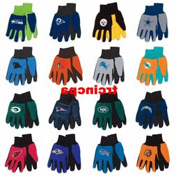 NFL-Wincraft NFL Two Tone Cotton Jersey Gloves- Pick Your Te