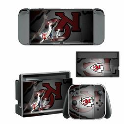 NINTENDO SWITCH - Kansas City Chiefs - Vinyl Skin + 2 Joycon