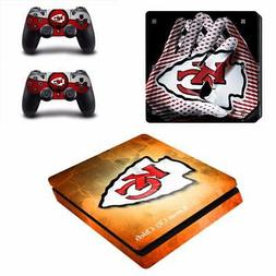 PS4 Slim NFL Kansas City Chiefs Console Skin Vinyl Stickers