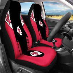 USA Kansas City Chiefs 2PCS Car Truck Seat Covers Universal