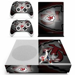 XBOX ONE S - Kansas City Chiefs - Vinyl Skin + 2 Controller