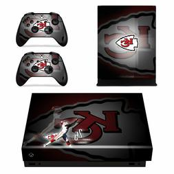 XBOX ONE X - Kansas City Chiefs - Vinyl Skin + 2 Controller